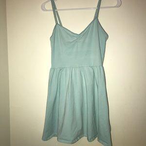 Pastel blue summer dress